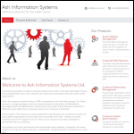 Screen shot of the Ash Information Systems Ltd website.