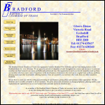 Screen shot of the Bradford District Chamber of Trade website.