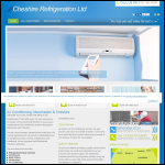 Screen shot of the Cheshire Refrigeration Ltd website.