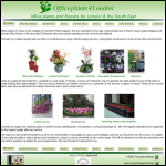 Screen shot of the Rochford Plant Displays website.