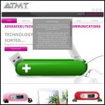 Screen shot of the The ATMT Group plc website.