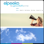 Screen shot of the Elpeeko Ltd website.