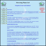 Screen shot of the Flowering Plants Ltd website.