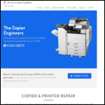 Screen shot of the Service Copier Supplies website.
