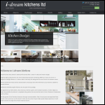 Screen shot of the I-dream Kitchens Lld website.