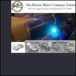 Screen shot of the The Hutson Motor Co. Ltd website.