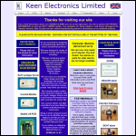 Screen shot of the Keen Electronics Ltd website.
