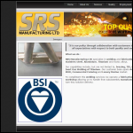 Screen shot of the Srs Manufacturing Ltd website.