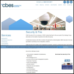 Screen shot of the Cbes Ltd Security Systems website.