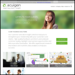 Screen shot of the Acuigen website.