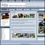 Screen shot of the Vidox Video Productions Ltd website.