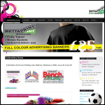 Screen shot of the Bettaprint (Garment Decorations) Ltd website.