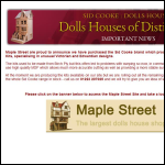 Screen shot of the Sid Cooke Dolls Houses website.
