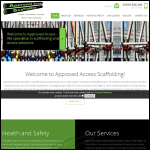 Screen shot of the Approved Access Scaffolding Ltd website.