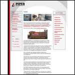 Screen shot of the Piper Test & Measurement Ltd website.