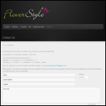 Screen shot of the Flowerstyle website.