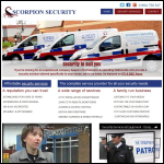 Screen shot of the Scorpion Security Guarding Services Ltd website.