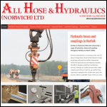 Screen shot of the All Hose & Hydraulics (Norwich) Ltd website.