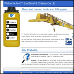 Screen shot of the C Y Electrical & Cranes Co. Ltd website.