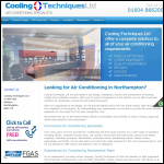 Screen shot of the Cooling Techniques website.