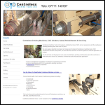 Screen shot of the Centreless Machine Tools Ltd website.