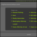 Screen shot of the Higher Associates website.