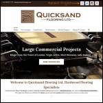 Screen shot of the Quick Sand Flooring website.