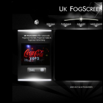 Screen shot of the UK FOGSCREEN website.