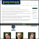 Screen shot of the Payman.co.uk Ltd website.