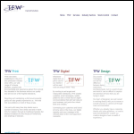 Screen shot of the Tfw Printers Ltd website.