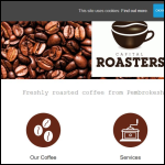 Screen shot of the Capital Roasters Ltd website.