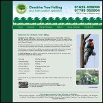 Screen shot of the Cheshire Tree Felling website.
