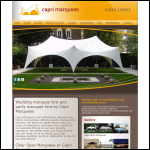 Screen shot of the Capri Marquees website.