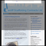 Screen shot of the Cardiff Scaffolding Contracts website.