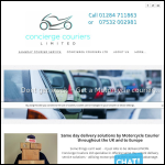 Screen shot of the Concierge Couriers Ltd website.
