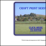 Screen shot of the Croft Print Services website.