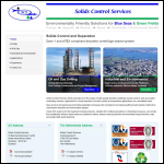 Screen shot of the Solids Control Services Ltd website.