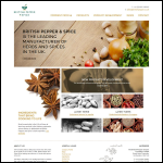 Screen shot of the The British Pepper & Spice Co. Ltd website.