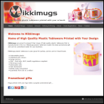 Screen shot of the Mikkimugs Ltd website.