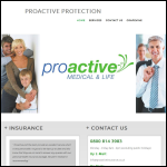 Screen shot of the Proactive Medical & Life Insurance Services website.