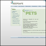 Screen shot of the Keepsafe website.