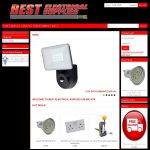 Screen shot of the Best Electrical Supplies website.