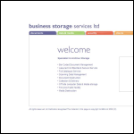 Screen shot of the Business Storage Services Ltd website.