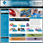 Screen shot of the Blue Fish Business Promotions Ltd website.