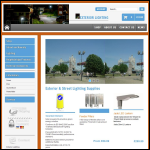 Screen shot of the Exterior Lighting Ltd website.
