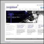 Screen shot of the Junglebeat Marketing website.