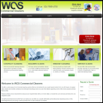 Screen shot of the Wcs Commercial Cleaning Services website.