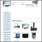 Screen shot of the Plasma Hire Ltd website.