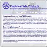 Screen shot of the Electrical Safe Products Ltd website.