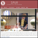 Screen shot of the Spur Creative Workshop website.